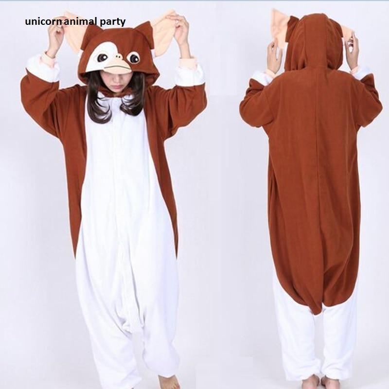 Warm winter Animal Adult Unisex Gizmo Onesies Pajama Sete Pyjama Cosplsy Sleepwear Halloween Costume jumpsuits