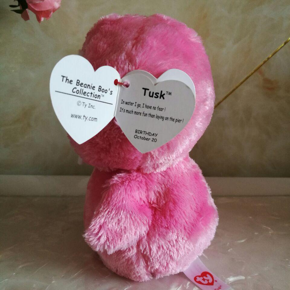 Tusk pink walrus TY BEANIE BOOS 1PC 15CM BIG EYE Stuffed animals plush toys  KIDS TOYS VALENTINE GIFT decoration children toy -in Stuffed   Plush  Animals ... a91cde85ddd