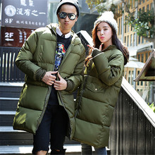 2017 Down Jacket Women New Casual Lovers Thicken Man Long Sections Loose Winter Coat Warm Duck