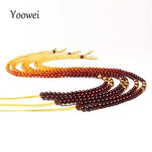 Image 2 - Yoowei 3 mét 55 cm Hổ Phách Chuỗi Vòng Cổ cho Phụ Nữ Chính Hãng Vòng Nhỏ Tự Làm Bead 100% Thực Sự Tự Nhiên Baltic Hổ Phách đồ trang sức Bán Buôn