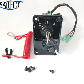 Yamaha Outboard Ignition Key Switch Panel, Stop Switch, Lanyard & Warning Buzzer 704-82570-08-00