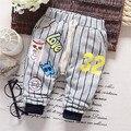 Otoño del envío del nuevo bebé muchacho ocasional pantalones a rayas, pantalones del cabrito, pantalones de los niños #Z1268