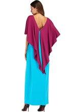 #187045 Euramerica Fashion Irregular Splicing Dresses Hot Sell Patchwork Muslim Robes Abaya Musulman Vestidos Mujer