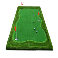 FUNGREEN 4,5x9 футов подкладка для гольфа зеленая Крытая открытая площадка для гольфа установка тренера коврик для гольфа портативная тренировоч