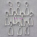 200PCS Wholesale Gold/silver Plated Pendant Pinch Bail 23mm,Pendant Clasps / Clips / Hooks Jewelry Findings,Free Nickel And lead