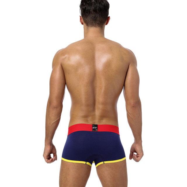 Brand Sexy Men Boxer Underwear Men Trunks Gay Penis Pouch Home Sleepwear Cotton Man Underwear Boxer Short Sleepwear 6 Color BS70