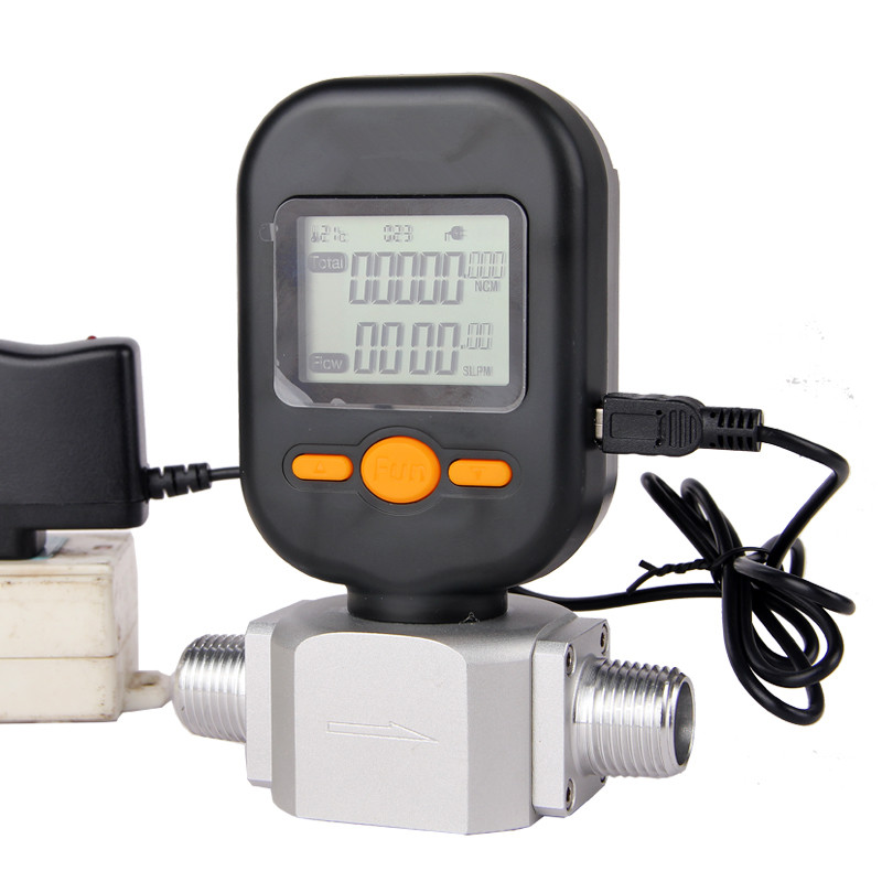 цена на New Flow Meter Gas Air Oxygen Digital Display Nitrogen 0-200 L/Min (SLPM) MF5712 High Precision Protable Gas Flow Air Mass Meter