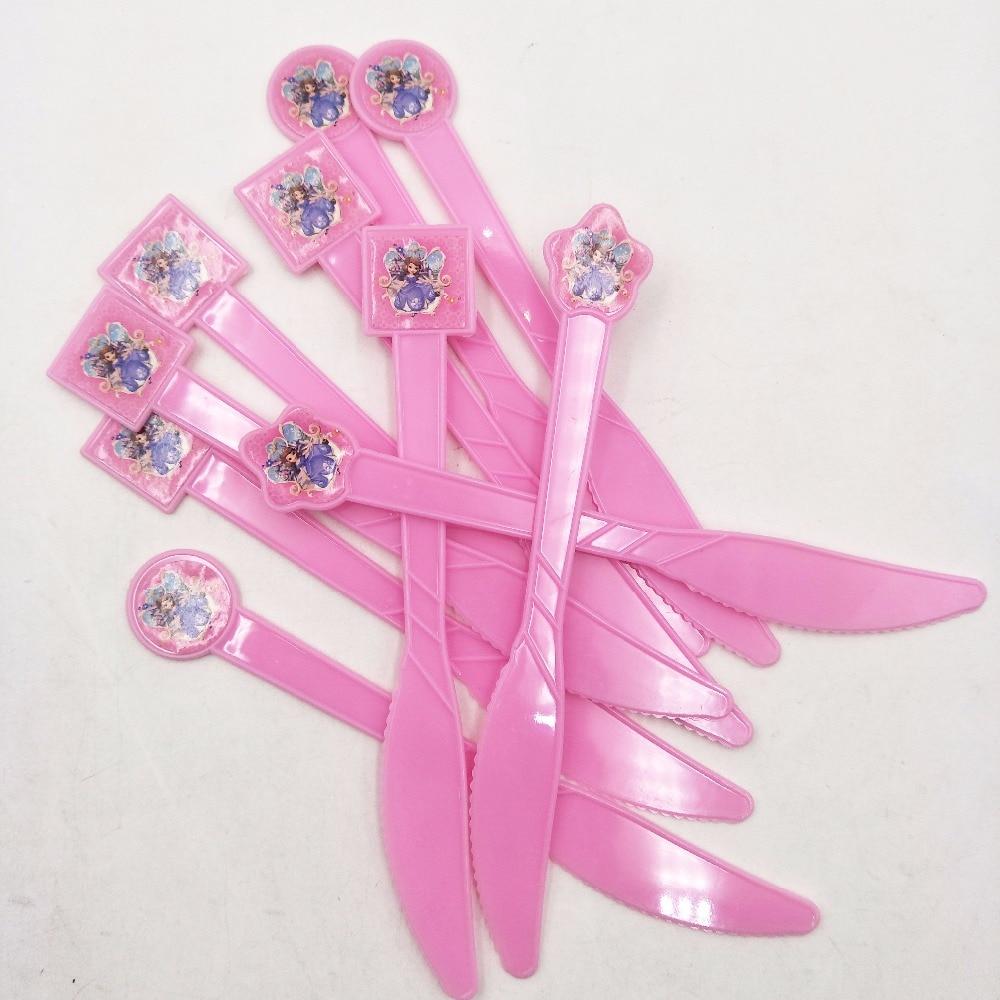 10pc Plastic Knife Sofia Party Supplies Cartoon Theme Birthday