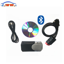DHL free 10pcs/lot 2015.1 free active or 2015.3 + keygen tcs cdp pro with NEC Relay new vci with bluetooth cdp pro Car Scanner