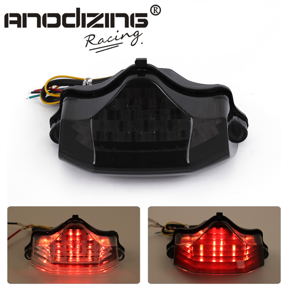 Motorcycle Led Tail Brake Turn Signal Integrated Light For Yamaha FZ600 FZ6 04-09