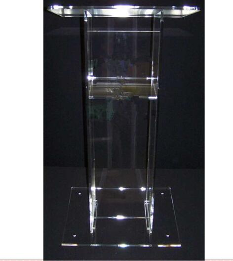 Acrylic Desktop Lectern / Acrylic Church Pulpit Church Lectern Stand