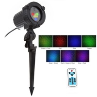 Christmas RGB Remote Static Stars Dots Laser Projector Lights Garden Outdoor Waterproof IP65 Tree Xmas Holiday