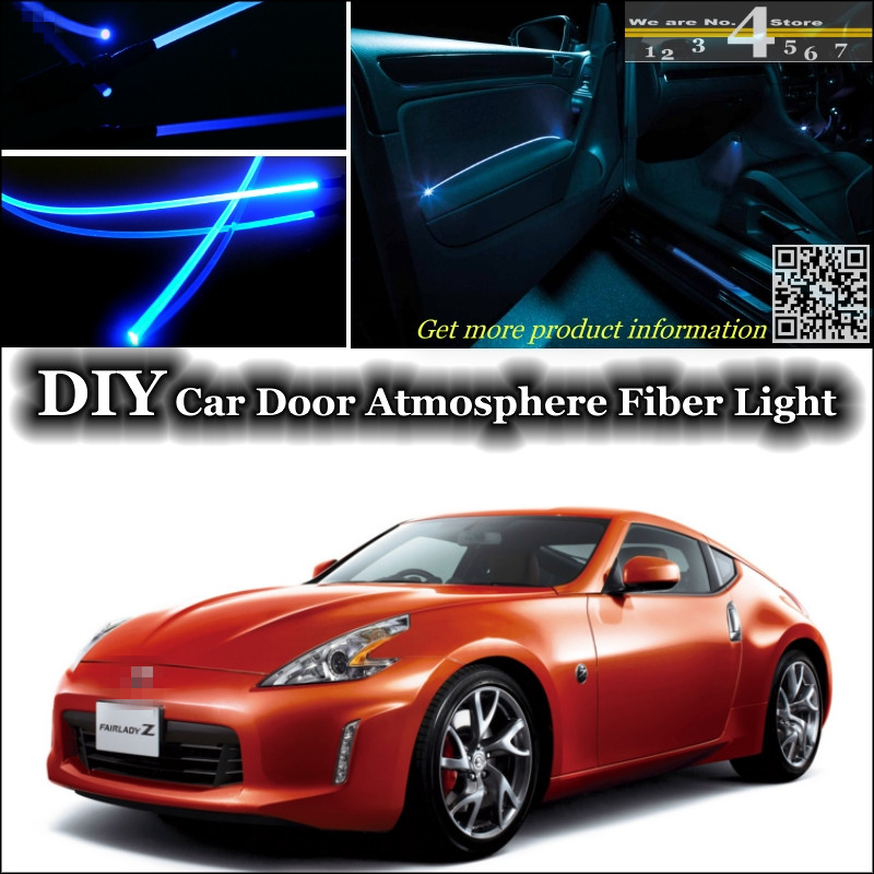 US $26 57 22% OFF|interior Ambient Light Tuning Atmosphere Fiber Optic Band  Lights For Nissan Fairlady Z / 300ZX Z31 Z32 Z33 Z34 Inside Door Panel-in