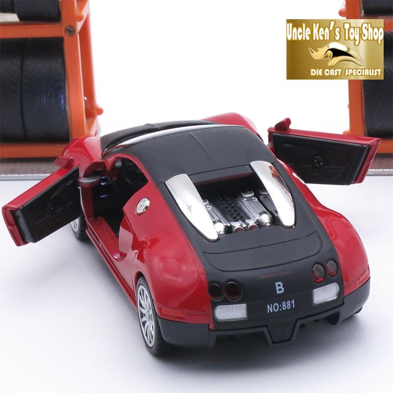 14 سم طول دييكاست بوجاتي نموذج سيارة اللعب للأولاد مع المواد المعدنية ، التراجع وظيفة اللمعان