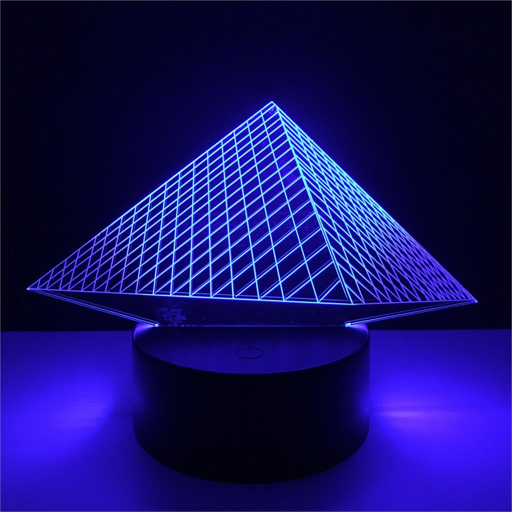 3D LED Hologram Illusion Pyramid Light 7 Colors Changing 3D Lamp USB Table Light With Touch Switch For Baby Bedroom sleep цена