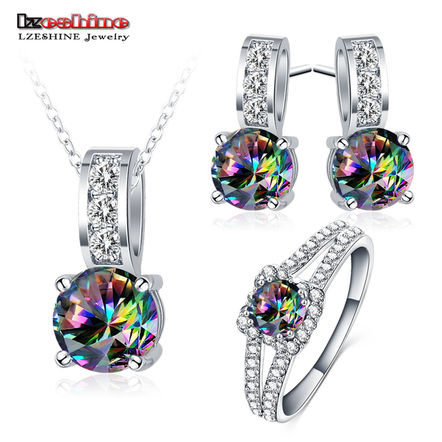 LZESHINE New Cheap Wedding Jewelry Multicolor Rhinestone Pendant