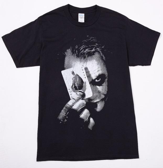 Batman O Cavaleiro Das Trevas Coringa Impressão Camisa de Algodão T O-pescoço Dos Homens do T T-Shirt Traje Cosplay Camisas Plus Size Frete Grátis