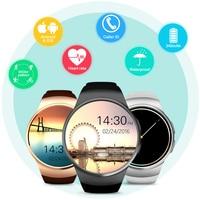 100% nuevo KW18 MTK2502 Bluetooth androide reloj teléfono inteligente TF tarjeta SIM smartwatch apoyo ios android MP3 MP4