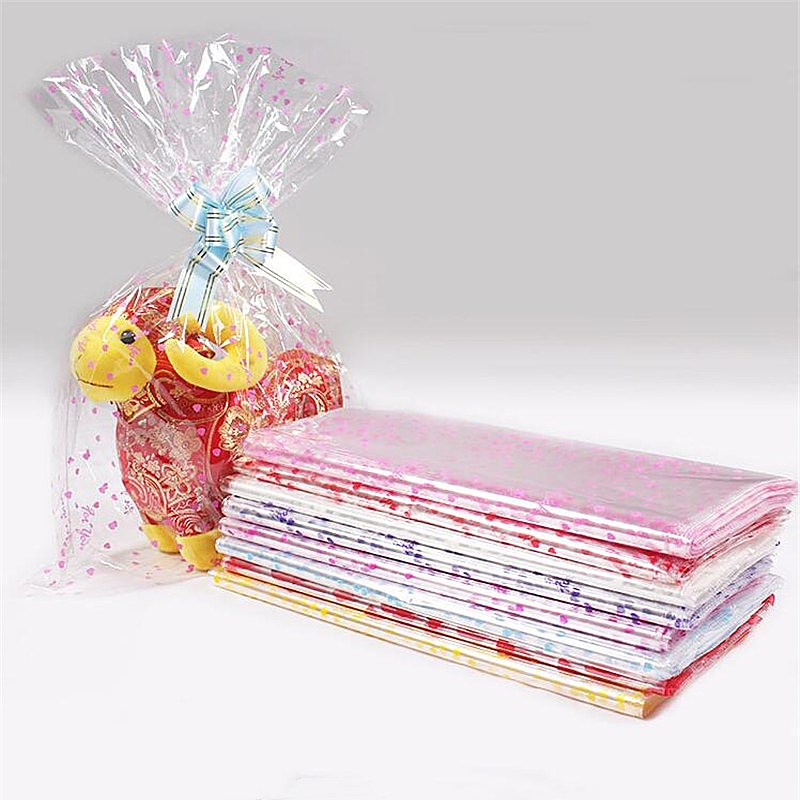 Us 7 48 9 Off 100pcs 4 Sizes Large Plastic Gift Package Bag Plastic Doll Packaging Bag Clear Cellophane Bag Bakery Christmas Gift Packing Bag In