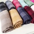 Children 's Cotton Scarves Wild Fashion Girl and boy scarf Children fall tide grid scarf child neckerchief