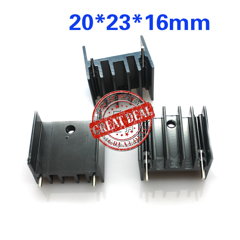 Free Ship With Tracking Brand New 100pc High Quality Aluminum Mos Heatsink 20*23*16MM TO3P Heatsink IC Heatsink