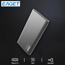 Eaget External Solid State Drive 512GB 1.8 Portable SSD Type-C USB 3.1 external ssd 1TB Mobile Solid State Drive High Speed portable ssd hard drive eaget m1 256 gb