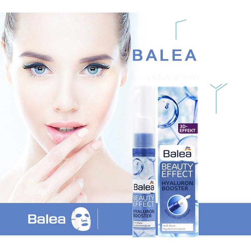 Portable Balea Beauty Wrinkle Filler Serum Face Lips Eyes Paraben-free Hyaluronic Acid Booster 10ml Moisturizing Essence Vegan germany balea beauty effect wrinkle filler hyaluronic acid serum moisturizing essence lifting effect vegan paraben free