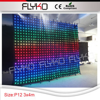 dj led wholesale party rental equipment P120mm led curtain 3m high x 4m width led curtain screen