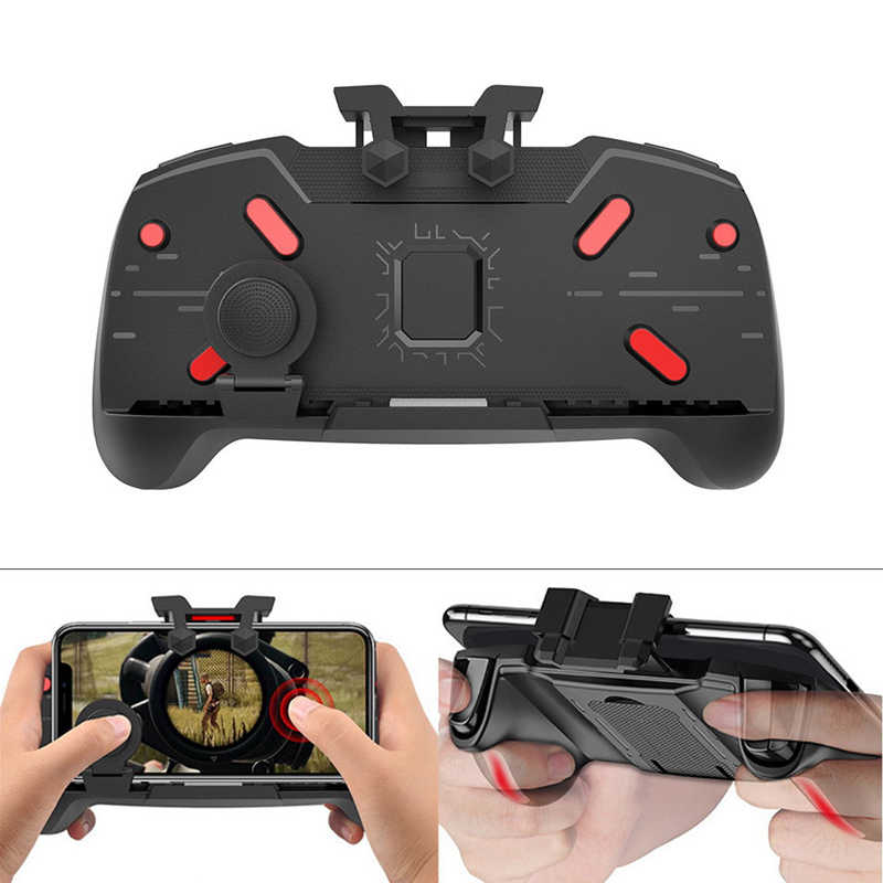 Joystick Gaming Gamepad teléfono móvil gatillo de juego Botón de fuego L1R1 Shooter Controller AK21 para PUBG juego mango soporte