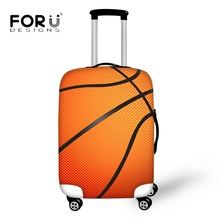 """FORUDESIGNS Brand Designer Luggage Cover Cool Ball Pattern Thick Elastic Protector Apply to 18""""-30"""" Dust Rain Bag Covers"""