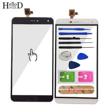 Touch Screen Glass For Oukitel U11 Plus Touch Screen Glass Digitizer Panel Touchscreen Front Glass Lens Sensor + Adhesive(China)