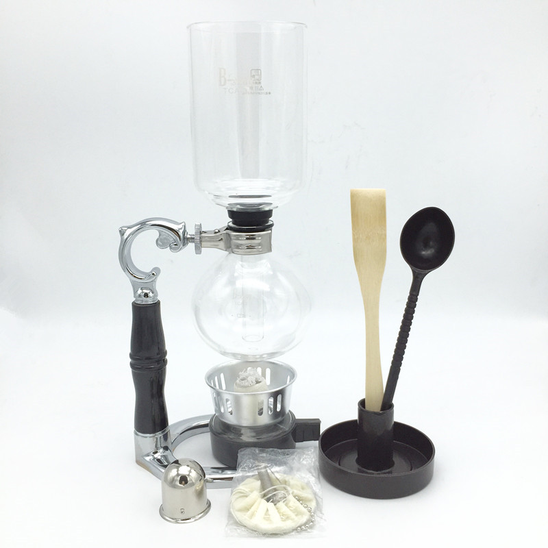 5 cups siphon coffee maker high quality glass syphon strainer coffee pot Siphon pot filter coffee