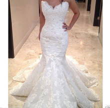 Robe De mariée sirène en dentelle, robe De mariée arabe musulmane, style Boho avec cœur en dentelle perlée