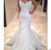 Spitze Vestido De Noiva Muslim Brautkleider Meerjungfrau Schatz Spitze Perlen Boho Dubai Arabisch Brautkleid Braut Kleider