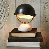 Simple modern marble table lamp black creative designer bedroom bedside lamp black small desk lamp table light ZA81467