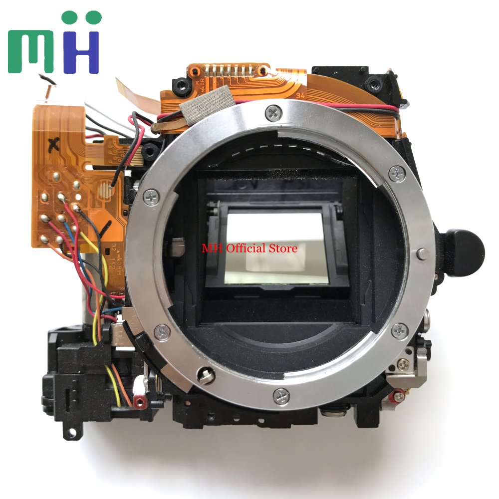 For Nikon D90 Mirror Box Front Main Body Bayonet Mount Framework with Shutter Aperture Diaphragm Motor