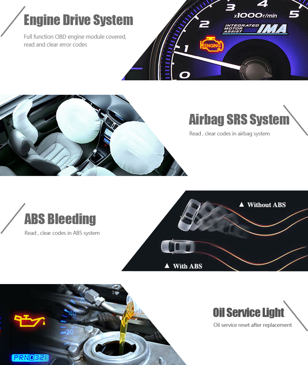 VPECKER E1 V10 5 WiFi Diagnostic Tool OBD OBD2 Scanner Easydiag ABS Airbag  SRS Reset Oil DPF EPB BMS Tablet Diagnose Free Update