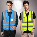 high visibility Reflective vest T-shir fluorescent safety clothing sanitation motorcycle traffic road vest clothes for work