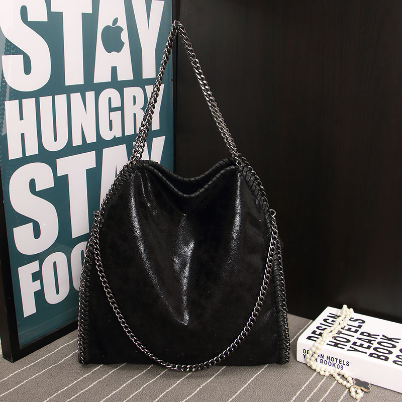 Women Bag Message PU Leather Fashion Portable Chain Woven Messenger Shoulder Bag
