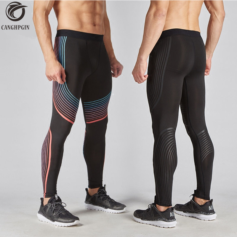 Brand Running Tights Men Compression Pants Joggers Jogging Skinny Leggings Gym Bodybuilding Pants Exercise Quick-Drying Trousers