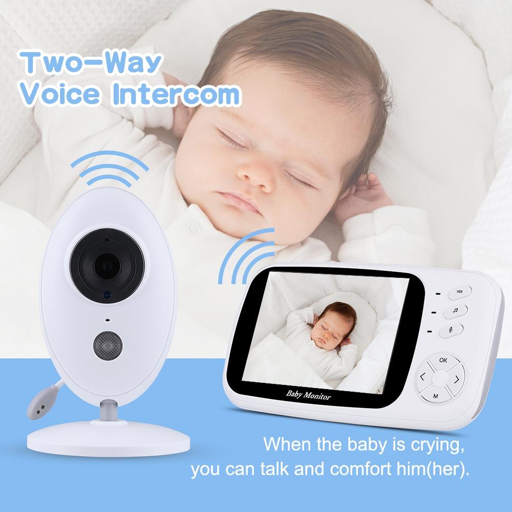 3 5Inch Wireless LCD Audio font b Video b font Baby Monitor Nanny Music Intercom IR