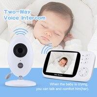 3.5Inch Wireless LCD Audio Video Baby Monitor Nanny Music Intercom IR Portable Baby Camera Baby Walkie Talkie Babysitter