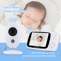 3.5Inch Wireless LCD Audio Video Baby Monitor Nanny Music Intercom IR Portable Baby Camera Baby Walkie Talkie Babysitter