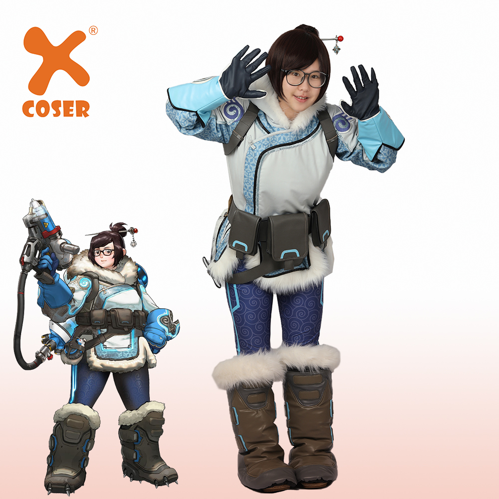 Mei Cosplay Costume Game Outfit Full Set Halloween Adult Coat Women Party Props