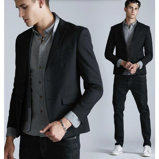 In the spring and autumn season leisure men's suit jacket to dine together business leisure men's suit men's suit