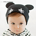2016 Crianças Cap Gorros Caps Para Meninos Capotas Do Bebê Com Gato orelhas Bonito Recém-nascidos Chapéus De Malha de Algodão Recém-nascidos Foto Props Crochet Hat