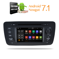 Android 7.1 Car DVD Stereo Player GPS Glonass Navigation Multimedia for Seat Ibiza 2009 2013 2014 Auto RDS Radio Audio Video