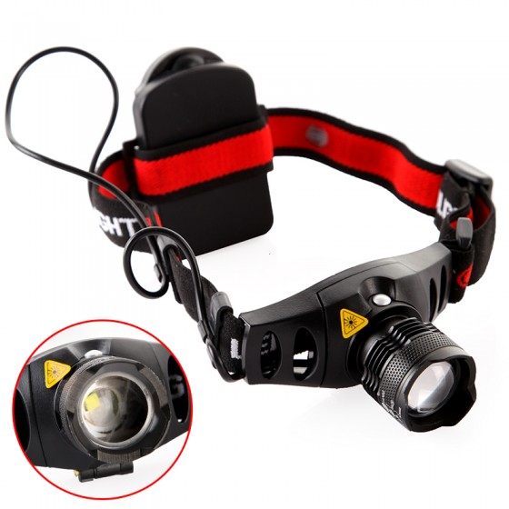lanterna HeadLight red indicator light Headlamp with Battery Holder 4-mode outdoor head light lamp ...