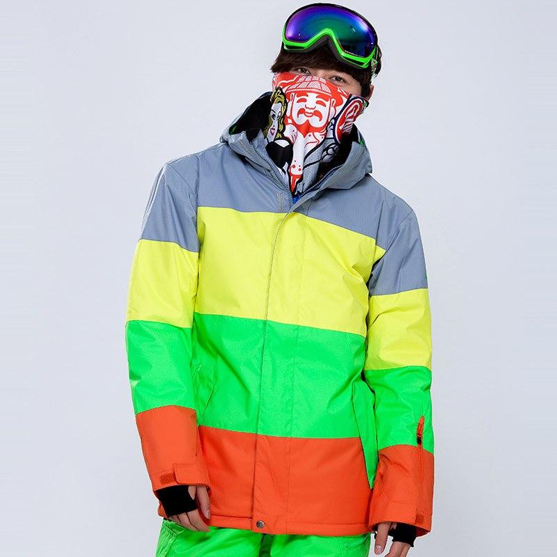 Prix pour Gsou Neige Hiver Chaud En Plein Air Sport Coupe-Vent Imperméable Snowboard Ski Veste Hommes Escalade Neige Rembourré Manteau Homme veste de Ski