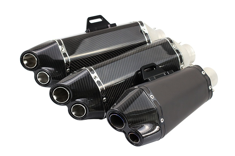 цены  carbon fibre Universal 51mm Akrapovic Yoshimura Motorcycle Muffler Exhaust with Double TTR KTM 990 DUKE S1000RR TMAX-530 FZ8 GY6